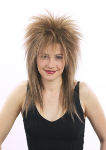 punky spiked wig in 18 24 like jareth from labyrinth