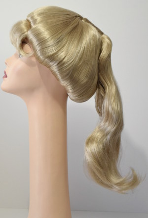 Barbie Beehive wig, side view