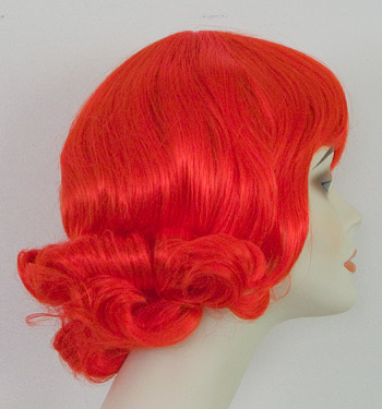 Brittany wig in Red, side view