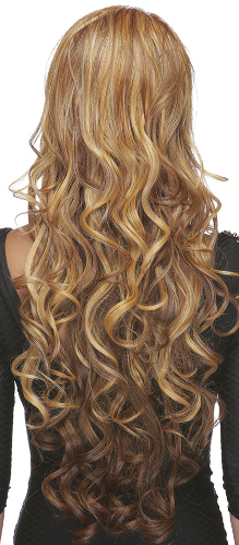 lace front wig Champagne in F2014, back view