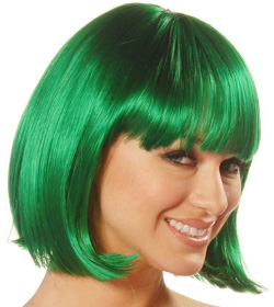 China Girl wig, green