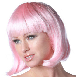 China Girl wig in pink