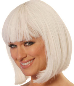 China girl wig in White