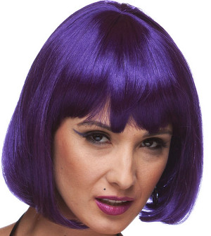 Cindy bob wig in Purple