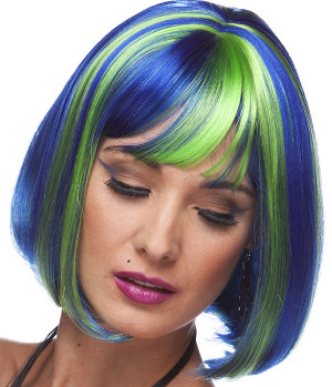 Cindy bob wig in Seashell Blue