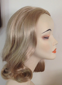 60s prom pageboy femme fatale in blonde