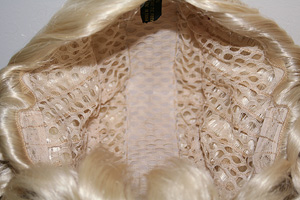 Innocent ponytail wig inside view