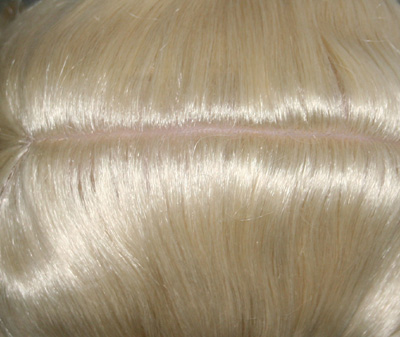 Innocent ponytail wig top view