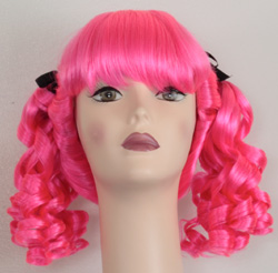 Innocent ponytail wig in hot pink