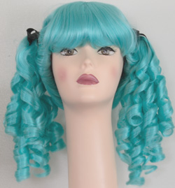Innocent pigtail wig in light blue