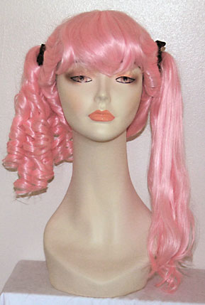 Innocent ponytail wig with on side straightened