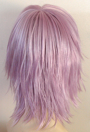 kharma wig in lilac, back view