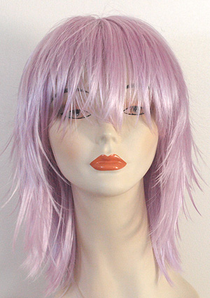 kharma wig in lilac, front view