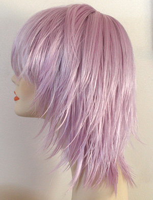 kharma wig in lilac, side view