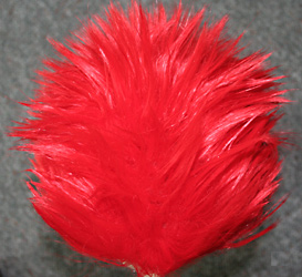 long spikey wig top view