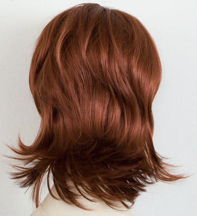 Marisa layered flip wig, back view