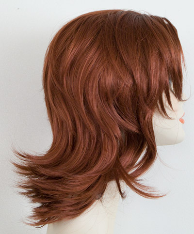 Marisa layered flip wig, side view