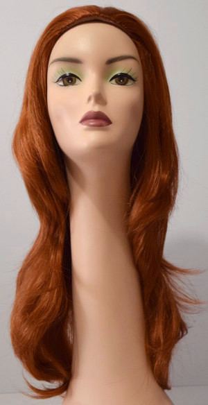 Linda wig in Fire Red