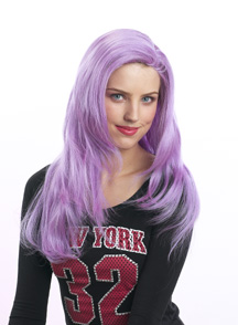 new look linda wig in light purple