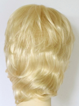 Long mens wig in light blonde