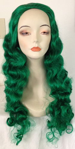 lucia wig in dark green