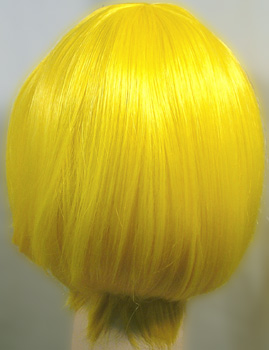 Lulu wig in yellow, back view