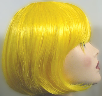Lulu wig in yellow, side view