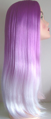 Luna f13 wig in light purple to white tips