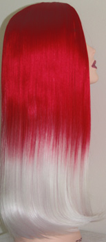 Luna F13 wig in red to white