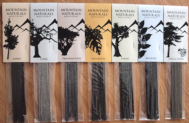 mountain naturals stick resin incense package photo