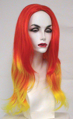Precious voix wig in red and yellow combination