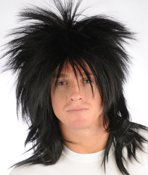 punky spiked wig in 1 black