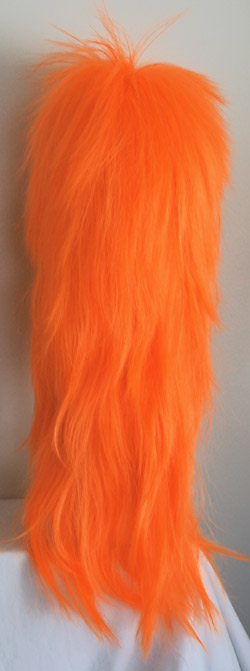 punky XL spiked wig, back view