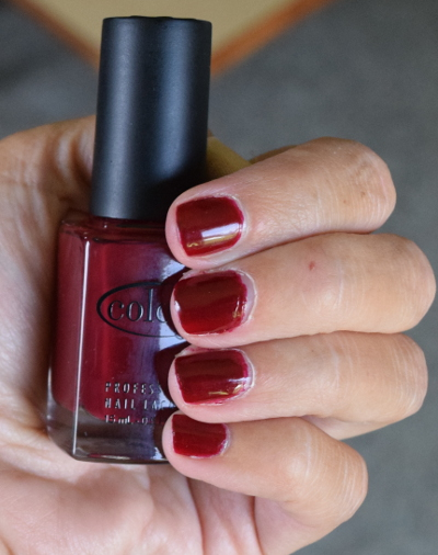 quickie manicure of Redical Gypsy - Redical Gypsy is a burgundy red nail enamel