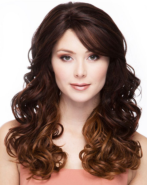 Lace front wig sedona color OM23033, front view, manufacturers photo