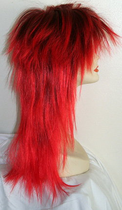 Rock Star wig in 1btRed, side view