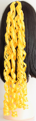 curly braid in color yellow
