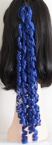curly braid in color dark blue