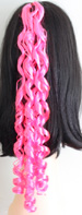 curly braid in color neon pink