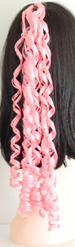 curly braid in color light pink