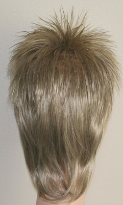 Rod spike wig in frosted blonde back view