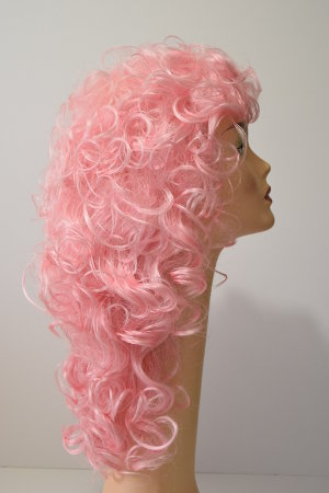Stella wig in pink side view