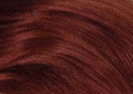 swatch of wig color 130 bright red