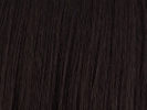 swatch of wig color 2 black brown