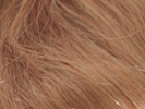 swatch of wig color 27c light ginger