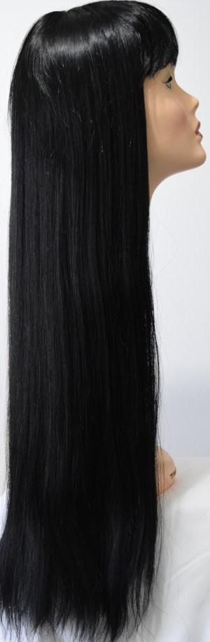 Tina wig in black, side view