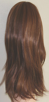 Alicia wig, back view