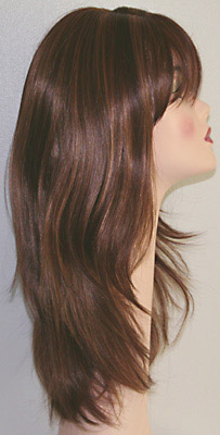 Alicia wig, side view