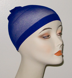 blue wig wave cap