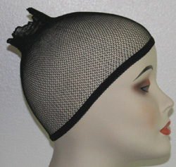 open top mesh wig caps